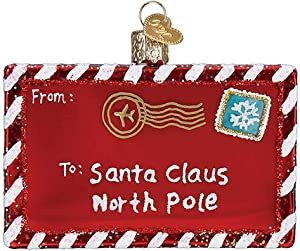Old World Christmas Letter to Santa Glass Blown Ornaments for Christmas Tree