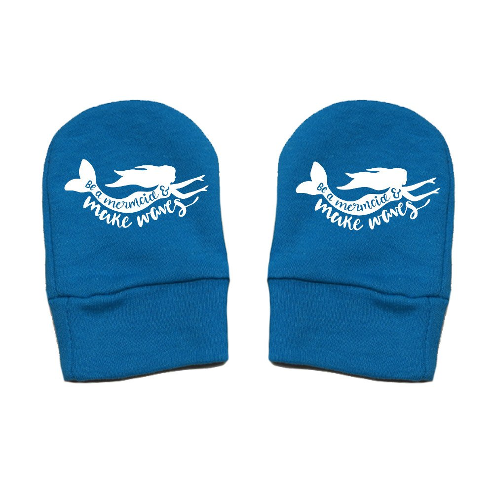 Thick Premium Fun /& Trendy Be A Mermaid and Make Waves Mashed Clothing Unisex-Baby Thick /& Soft Baby Mittens