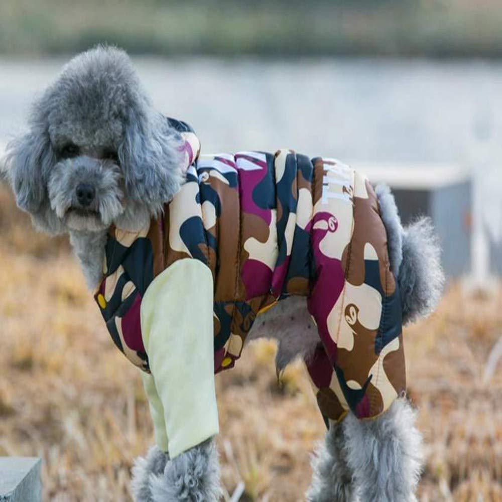 AITU Vestiti Dell'Animale Domestico Giacca per Animali Giacca Invernale Giacca Impermeabile Caldo Giacca Tuta, Metro