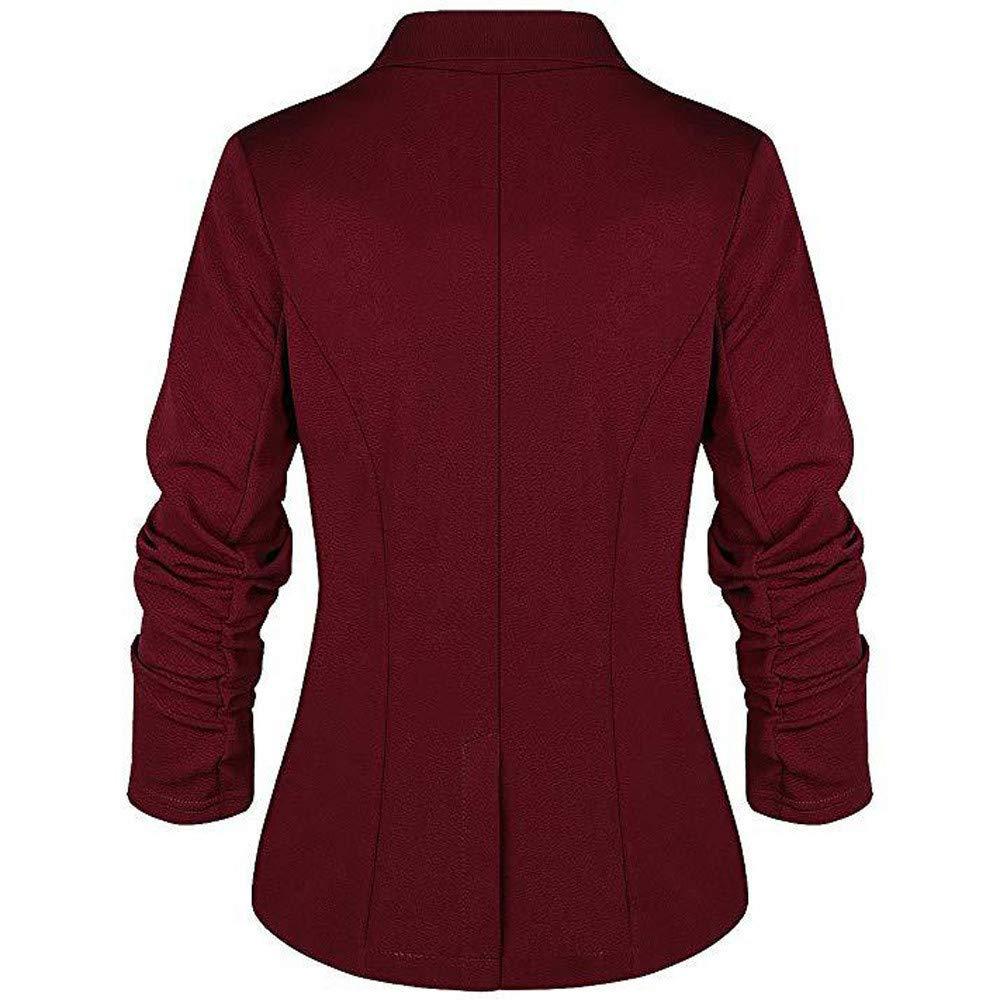 JMETRIE Womens Jacket OL Style Long Sleeve Button Blazer ...