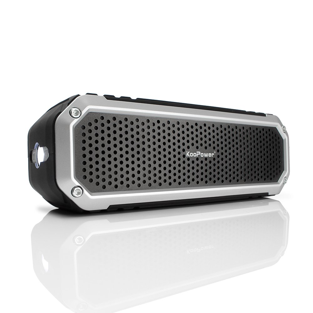 Amazon.com: KooPower KOOMB0215BS 10W Aluminum Bluetooth Waterproof Speaker,  Black / Silver: Electronics