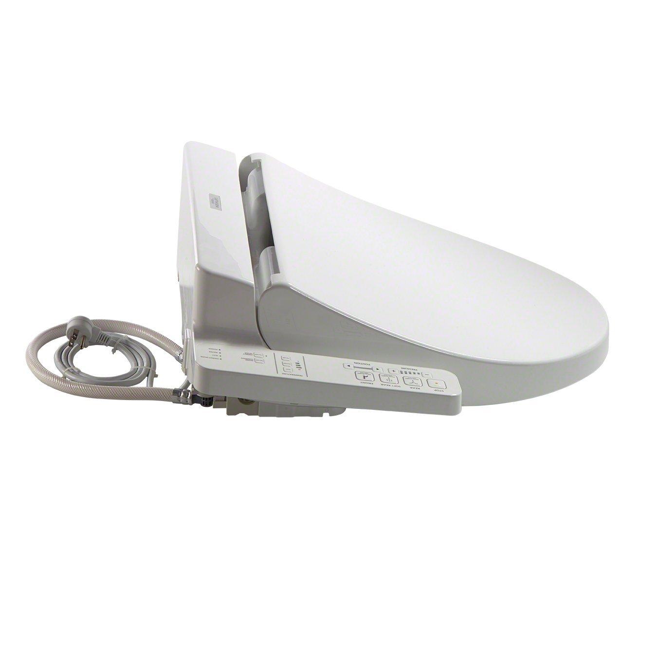 TOTO Washlet A100 Elongated Bidet Toilet Seat Cotton White