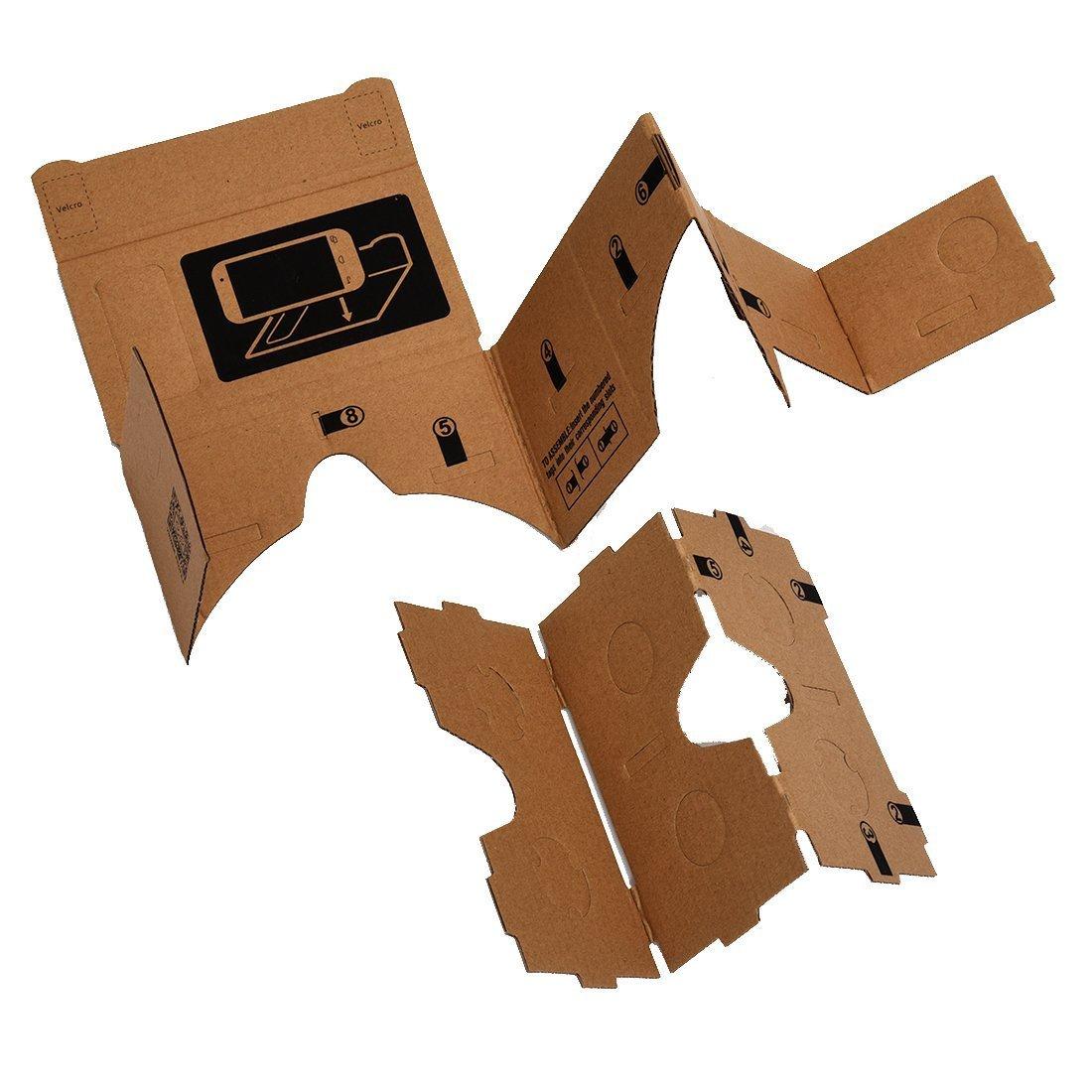 3D Virtual Reality Glasses - TOOGOO (R) Mobile phone cardboard quality 3D Virtual Reality Glasses by SODIAL (Image #4)