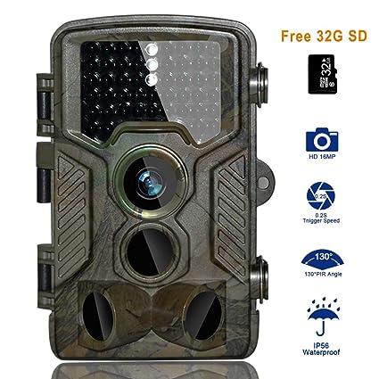 Cámara de Caza BestoU 16MP 1080P HD Trail Cámara con Visión Nocturna Impermeable IP56 con PIR ...