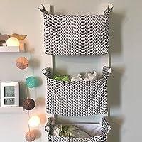 Nursery Hanging Storage Bins - Kids Room Storage Nursery Bins - Diaper Caddy Wall Organizer - Change Table Storage Custom Toy Organizer