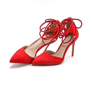 8cm, 10cm Red Sommer spitzen Riemen Stilettos, wilde sexy flachen ...