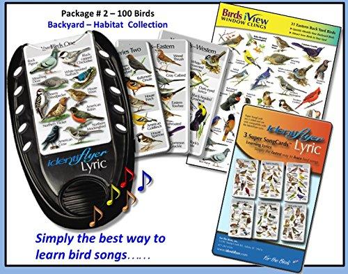 Birdsong Card - BirdSong IdentiFlyer Lyric, 40 backyard birds, 3 Card Set & Birds iView Window Clings