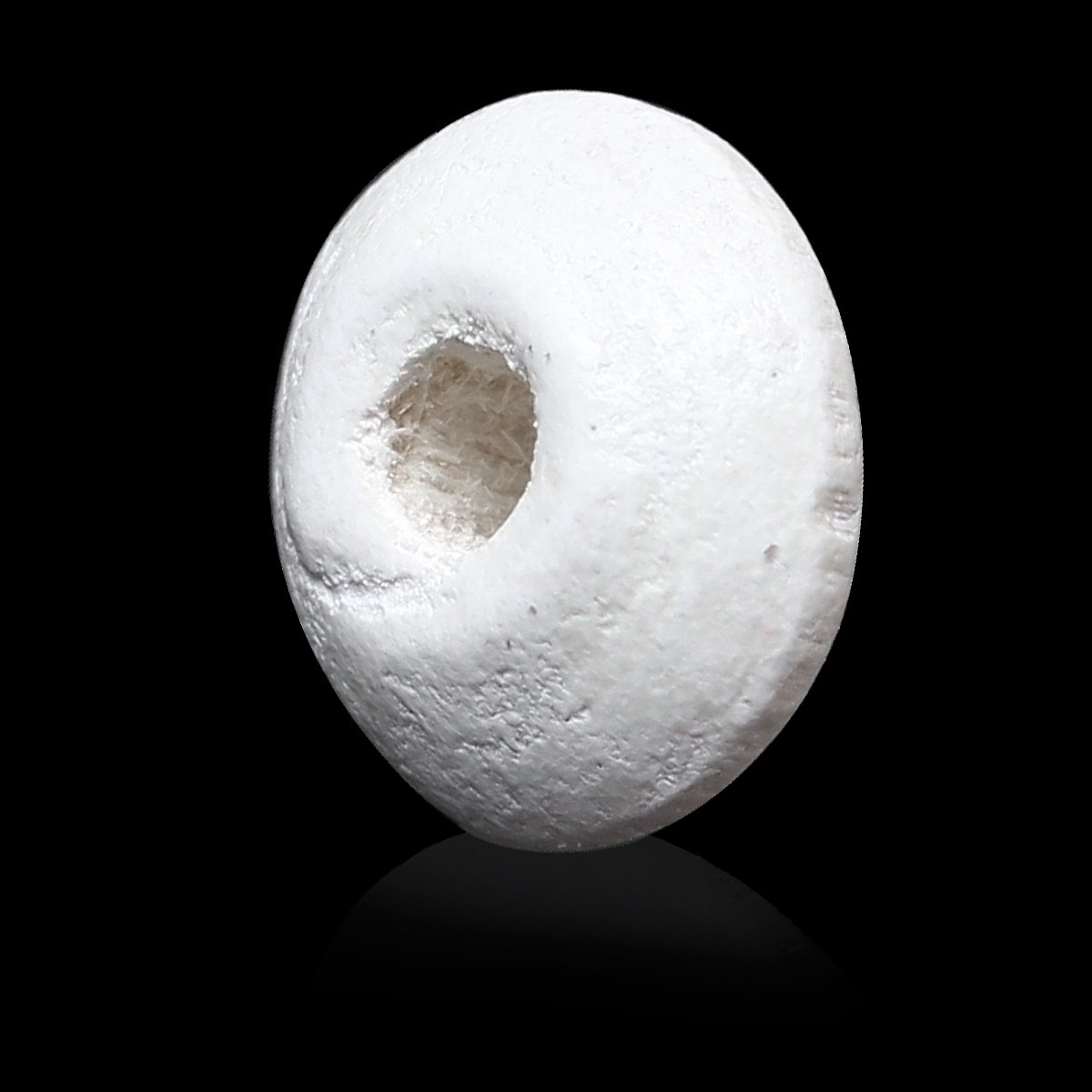 SiAura Material 500 Stück Holzperlen 5x10mm mit 2,6mm Loch, Abakus, Weiß zum Basteln Weiß zum Basteln
