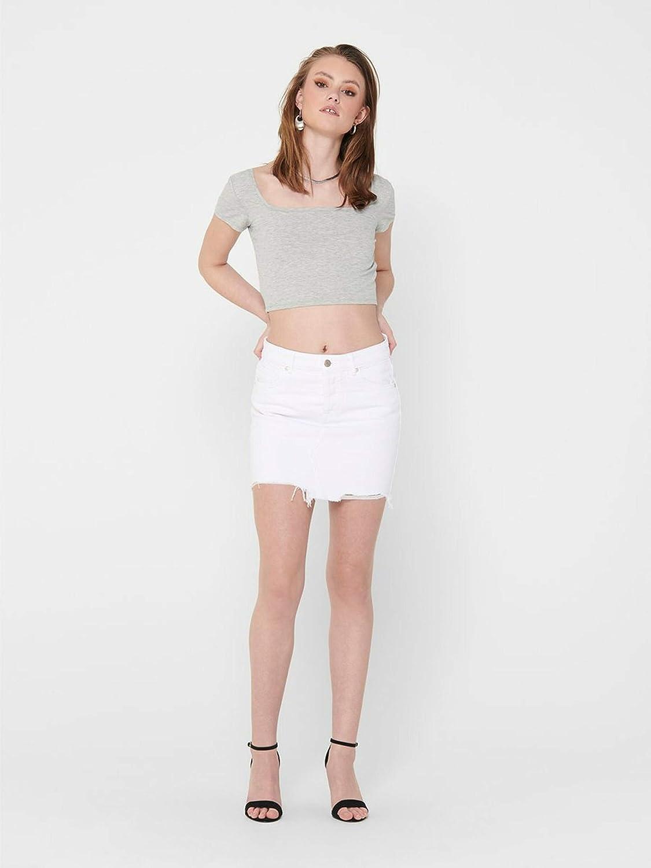 Only Onlsky Life Reg Skirt Raw DEST BB PIM Falda para Mujer