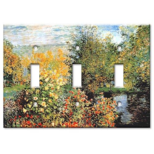 Monet: Stiller Winkle - Triple Toggle Switch Plate