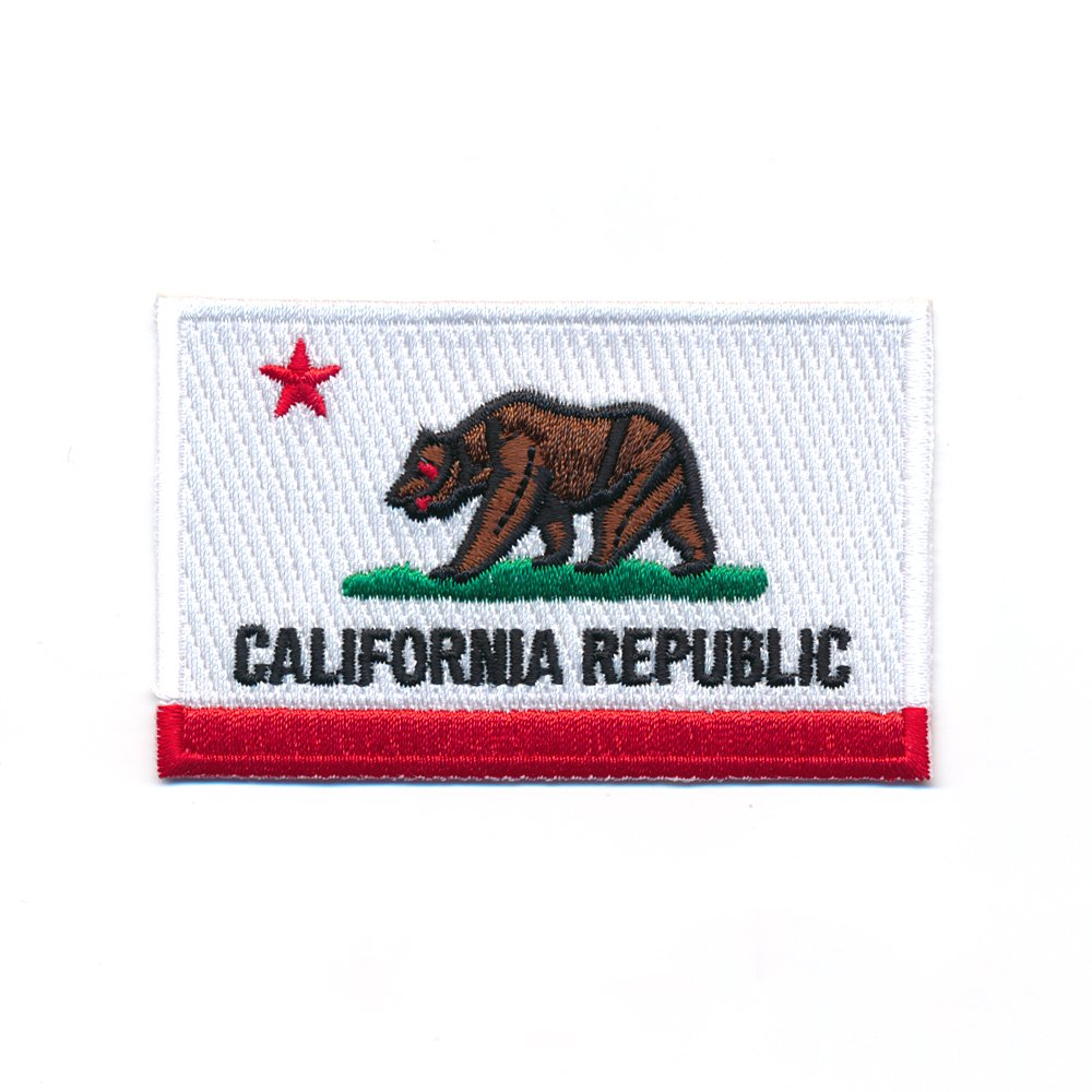 40/ x 25/ mm /écusson thermocollant 0969 A/ x drapeau USA Californie Sacramento