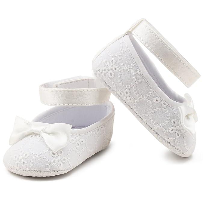 Delebao Babyschuhe Taufschuhe Krabbelschuhe Weiche Sohle Schnüren Weiße Schuhe Baby Taufe Kleinkind Solekleinkind Krippeschuhe Für Mädchen