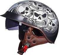 casque moto tête de mort vintage 3