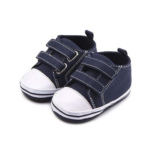 d149b6e99ef61 Nagodu Zapato Tipo Tenis Casual para Bebe niño Blanco con Azul Marino con ajustes  Tipo Velcro