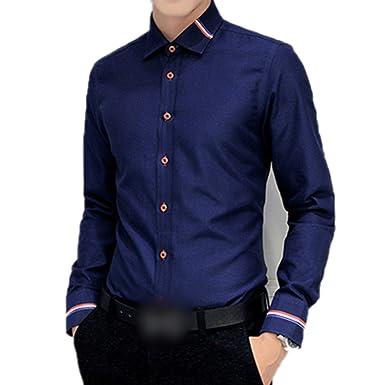 calidad primero Precio 50% diseño novedoso 5XL New Men Dress Shirts Men Shirt Slim Fit Long-Sleeve ...