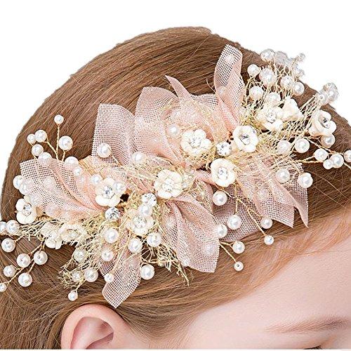 Girl Wreath - Bocianelli Girls Flower Wreath Headpieces Handmade Adjustable Halo Floral Crown Hair Flower