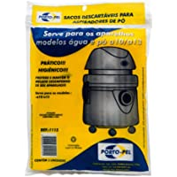 Pacote com 3 Sacos Descartáveis para Aspirador Modelos Água e Pó a10/ a13 Porto-Pel 1115