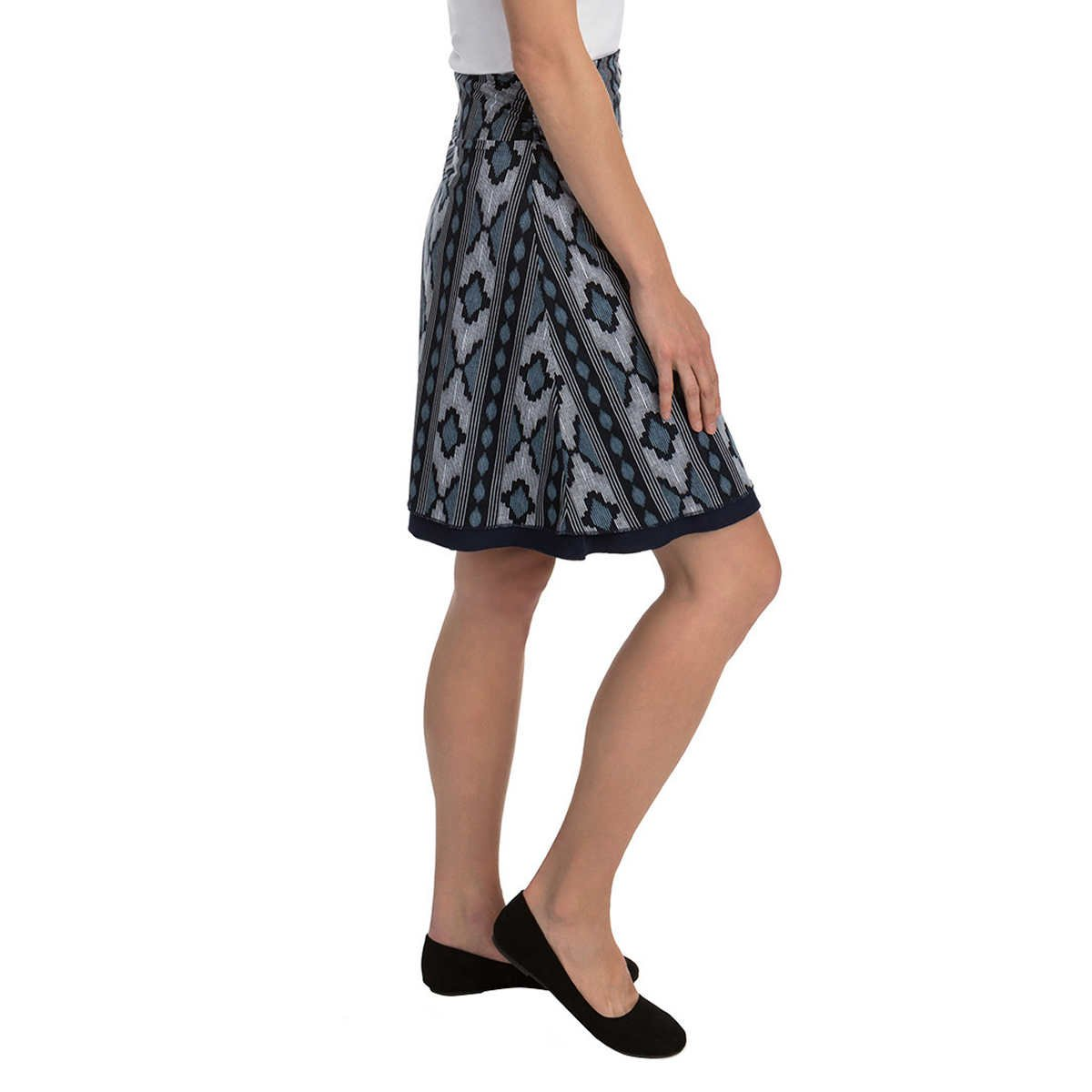 Colorado Clothing Tranquility Women's Reversible Skirt, Navy Pattern, Medium