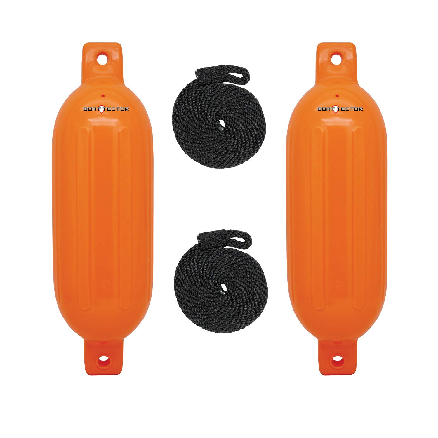 Extreme Max Standard 3006.7611 BoatTector Inflatable Fender Value 2-Pack-8.5'' x 27'', Neon Orange