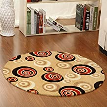 TOYM US- Environmental study tasteless round table mats cushion yoga mat computer dance mat soundproof bedroom bed non-slip pad moisture ( Size : Diameter 40cm )