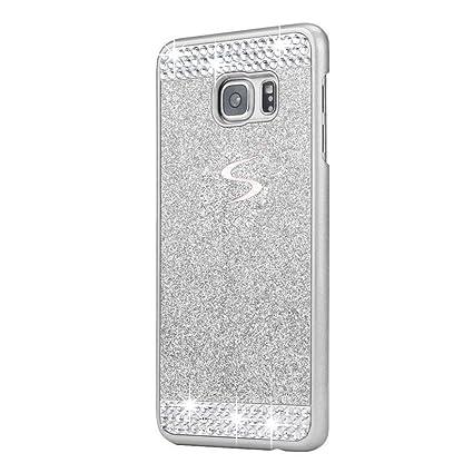 uk availability f16b4 72351 Galaxy S6 Edge Plus Case, ARSUE (TM) Beauty Luxury Hybrid Bling Rhinestone  Diamond Crystal Glitter Hard Case Cover Shell Phone Case for Samsung Galaxy  ...