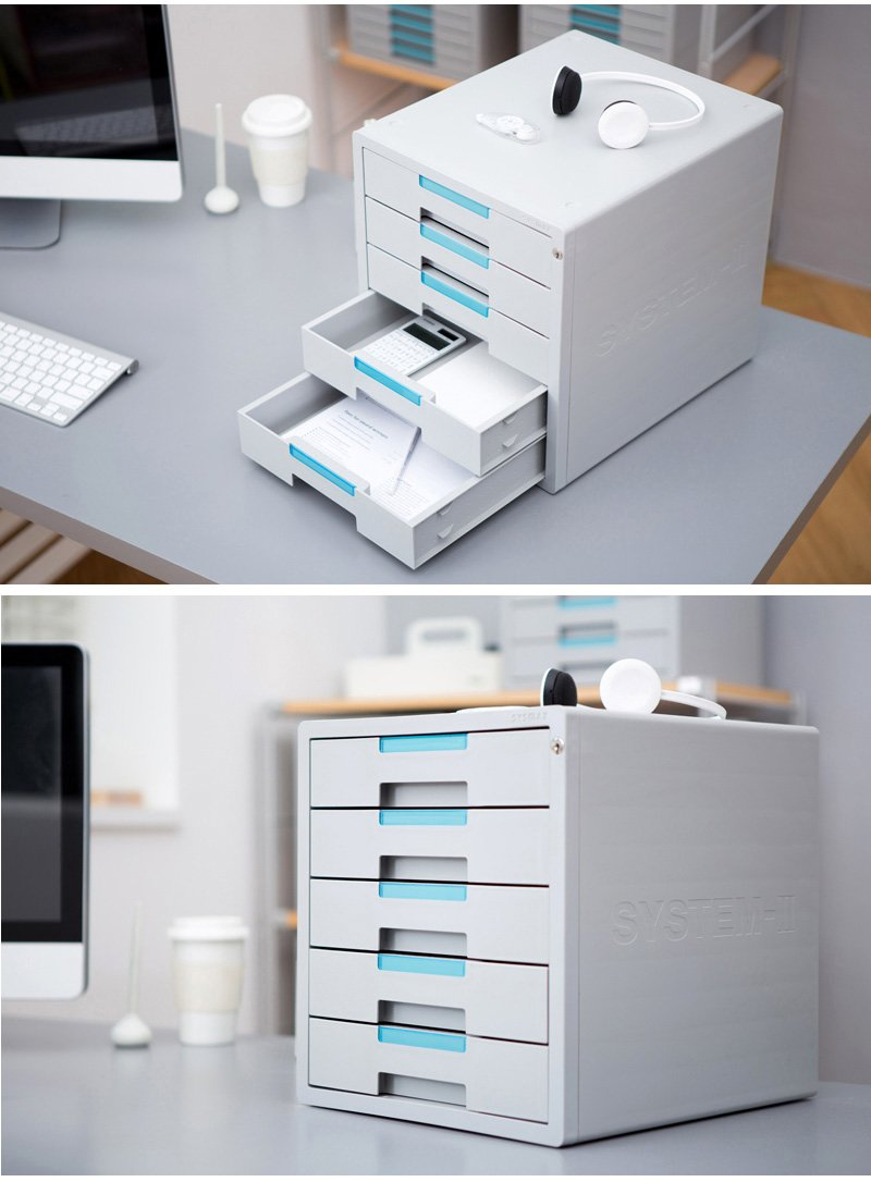5 Drawers System-2 Key File Cabinet Office Home Desk Supplies Lockable Function 1205K