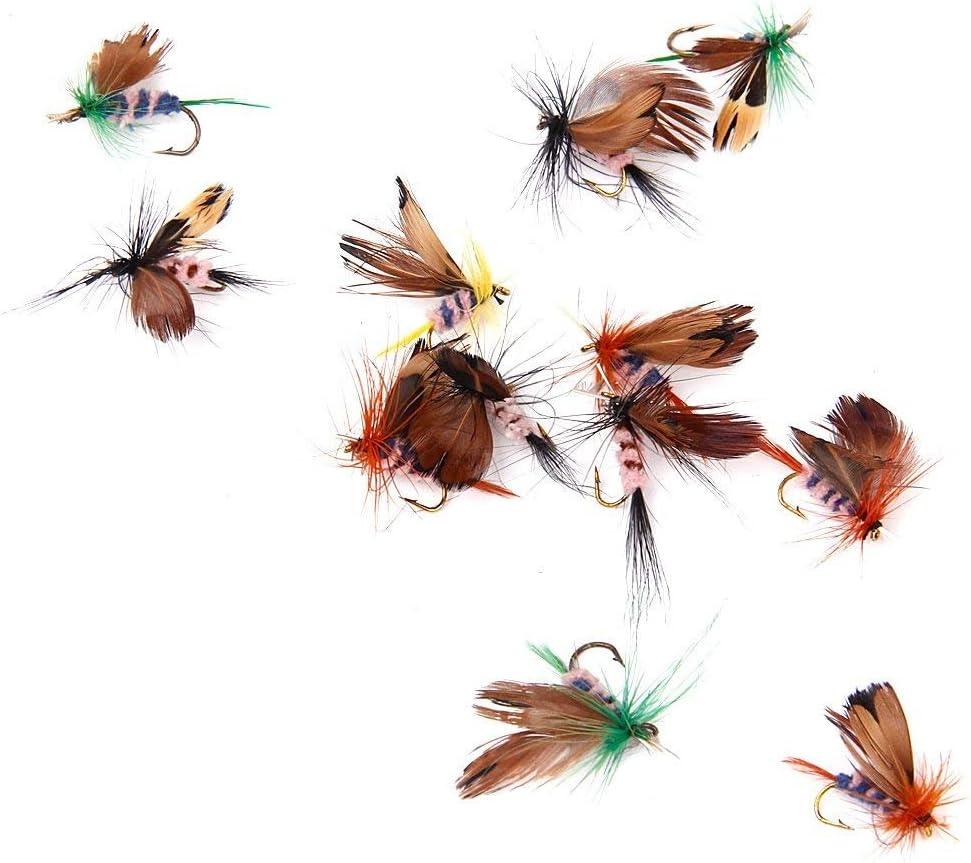 40x Angeln Insekten Fliegen Trockenfliegen Künstliche Kunstköder mit