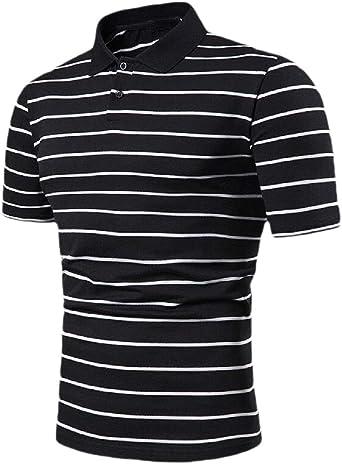 HANA+DORA Men Short Sleeve Casual Button Down Shirts