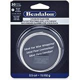 Beadalon 20-Gauge Half Hard Silver Filled CDA220 1/10 Jewelry Wire, Round, 0.5 Troy Ounce