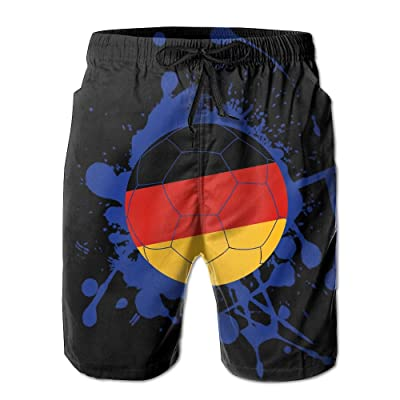 Tdhrv Whdyrl Germany Flag Soccer Football Lover Splash Men's Quick Dry Swim Trunks Lightweight Beach Board Shorts With Pockets