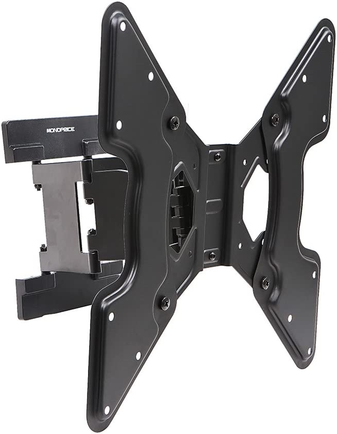 Monoprice Ultra-Slim Full-Motion Articulating TV Wall Mount Bracket – for TVs 32in to 55in Max Weight 66lbs Extension Range of 1.5in to 10.7in VESA Up to 400×400 Works with Concrete Brick