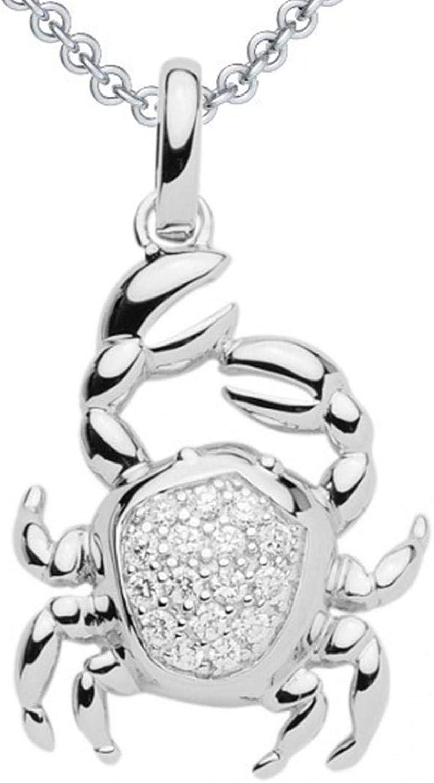 Sternzeichen-Anh/änger Silber 925//00 Crystocraft Krebs H/öhe: 14 mm www.diamants-perles.com