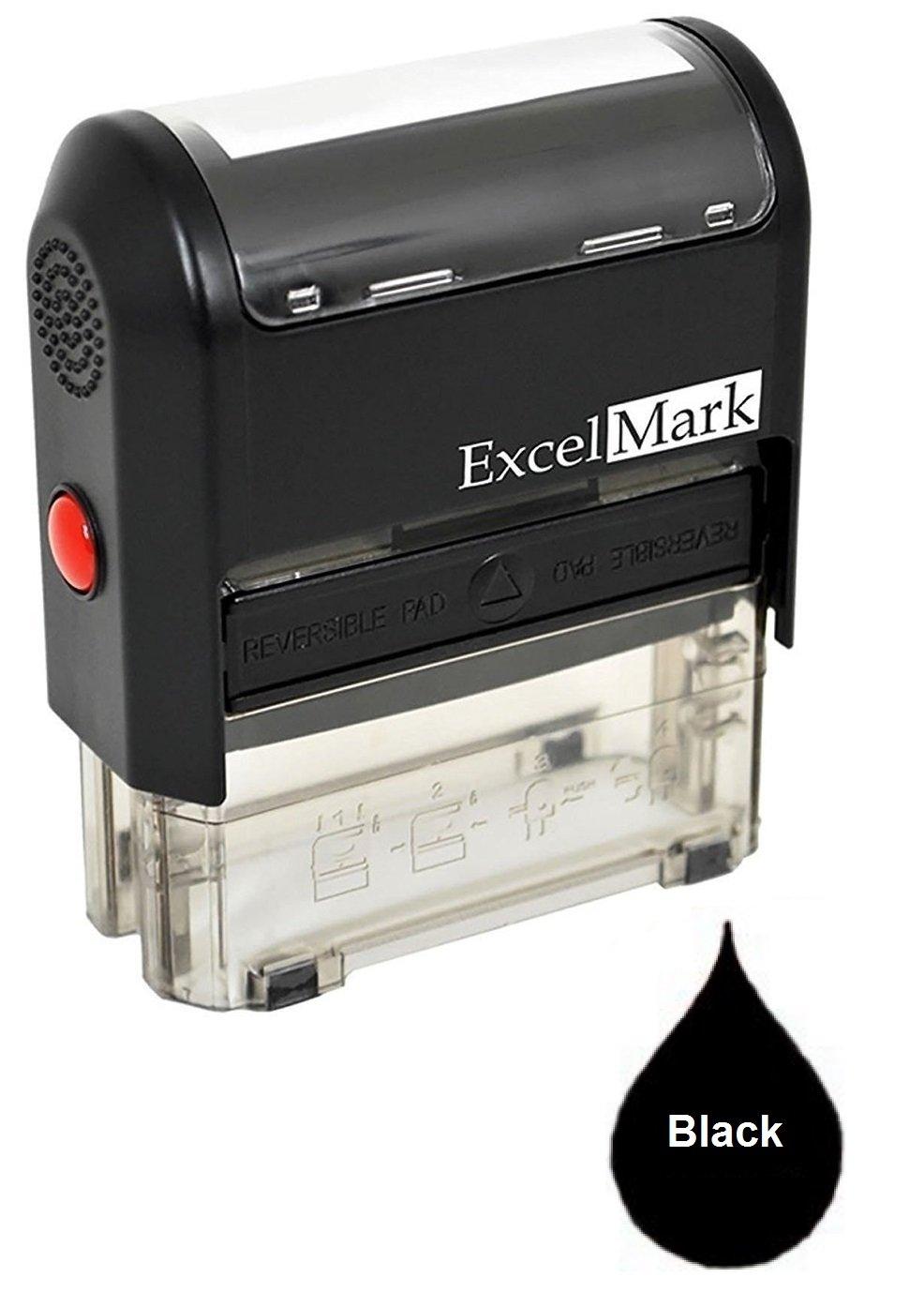 One Line Custom Rubber Stamp (Black)