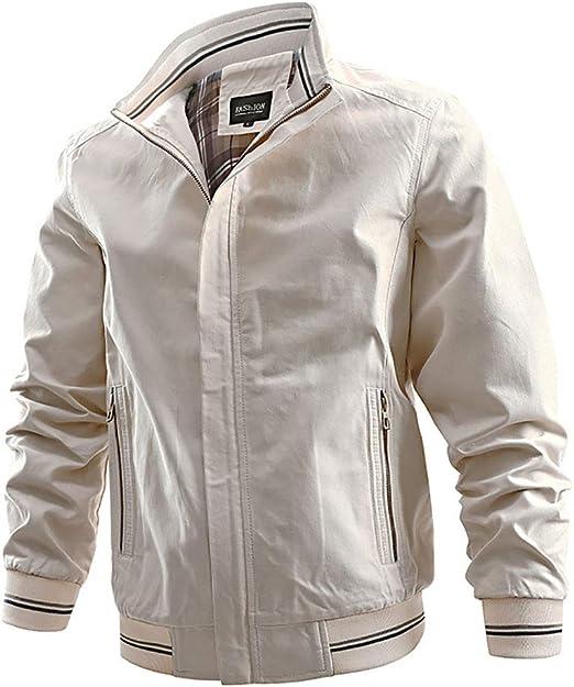 メンズジャケット軽量カジュアルボンバージャケットヴィンテージスクーターアウタージャケットとコート