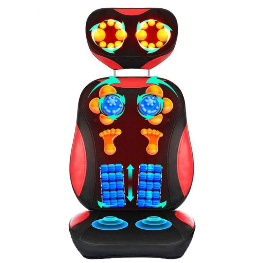 バックマッサージャー電動マッサージチェアシートクッションパッド、ディープニーディング、ローリング、バイブレーション、なだめるような熱処理で肩、背中、および上肢の筋肉をリラックスさせる B07S8RPW72