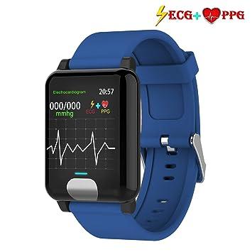 ISWIM Pulsera Actividad,ECG +PPG Pulsera Inteligente con Pulsómetro Pulsera Deportiva y Monitor de
