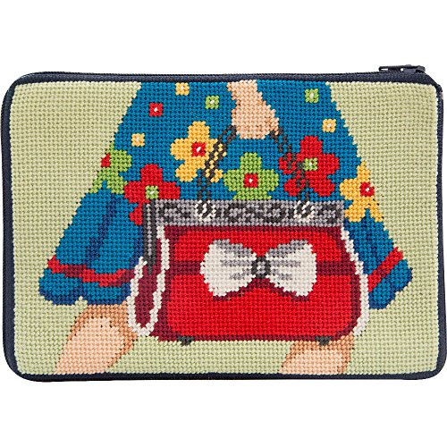Stitch & Zip Needlepoint Purse Kit- Mod Maggie