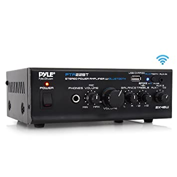 Wondrous Bluetooth Mini Blue Series Home Audio Amplifier Compact Desktop Home Theater Stereo Amplifier Receiver With Usb Charge Port Pager Mixer Karaoke Download Free Architecture Designs Grimeyleaguecom