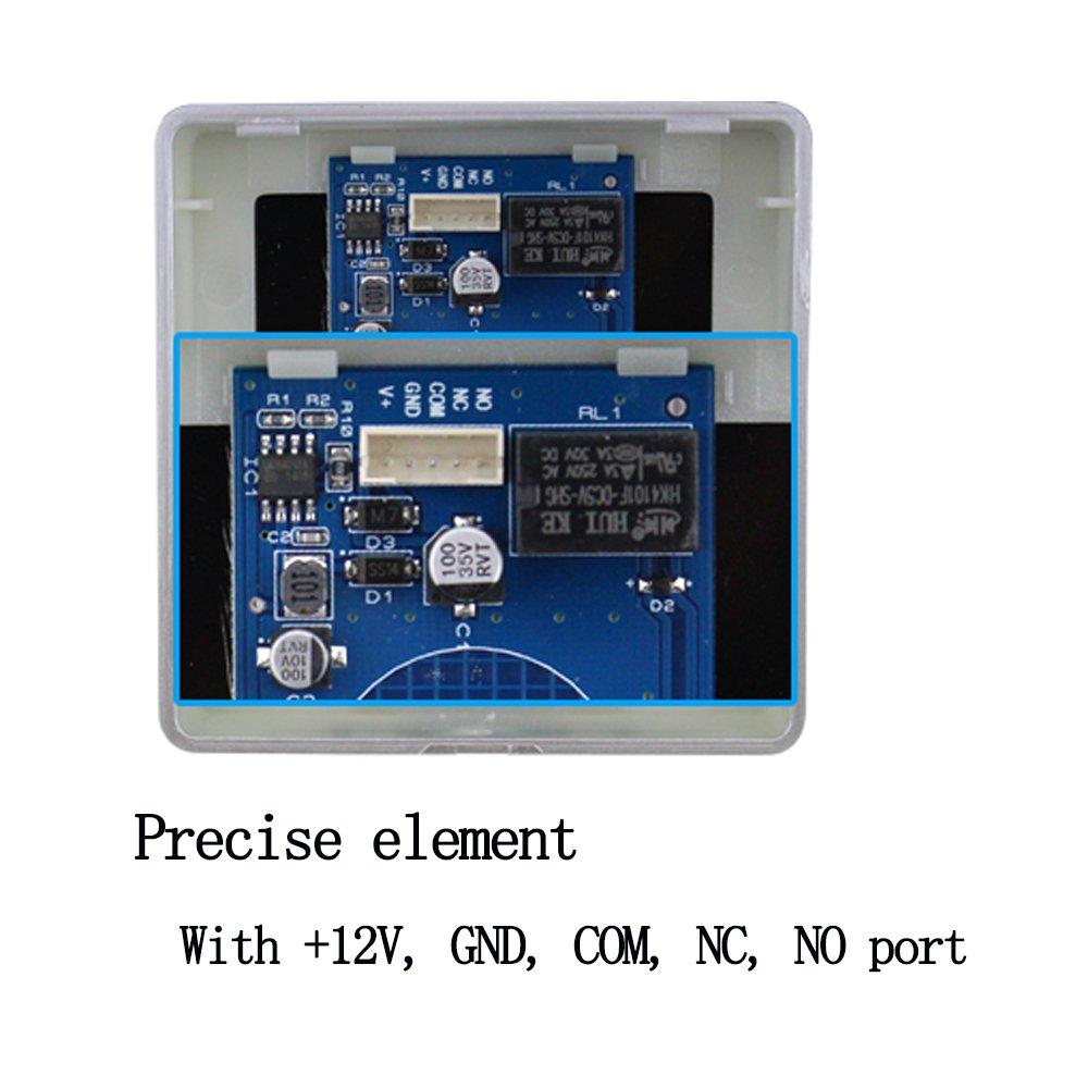 OBO HANDS Interrupteur de Bouton de Sortie de la Touche Avec r/étro-/éclairage LED pour le Syst/ème de Contr/ôle dacc/ès Quitter CM-DT
