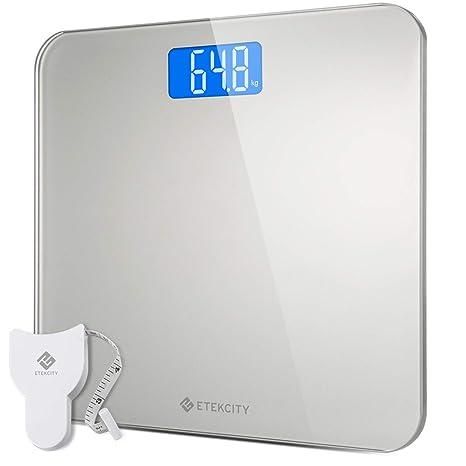 Etekcity - Báscula digital (cristal de seguridad, 5 kg-180 kg, diseño