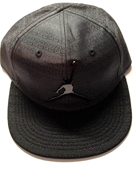 dd5344bf217 Image Unavailable. Image not available for. Color  Air Jordan Jumpman  Adjustable Boy s Cap 4 7 Black 23 Fitted
