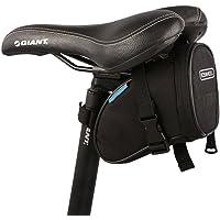 WOTOW Bolsa de sillín de bicicleta, debajo del asiento ciclismo bolsa de cola correa montaje de la herramienta de almacenamiento de liberación rápida bolsa de accesorios al aire libre para al aire libre MTB bicicleta de montaña carretera