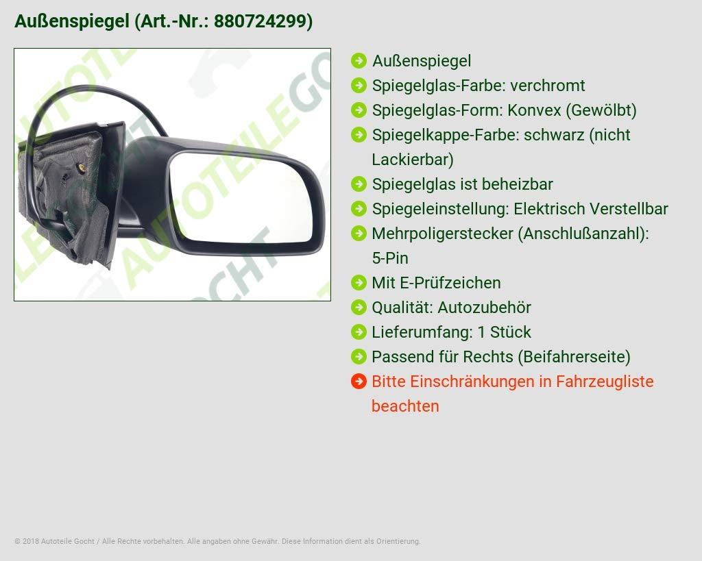 Heizb Au/ßenspiegel Rechts Konvex Ele schwarz B-Ware