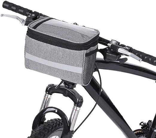 Bolso del manillar de la bicicleta del frente del poliéster gris ...