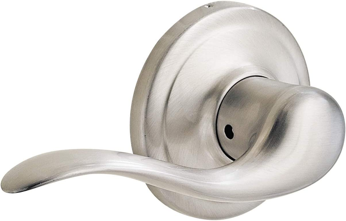 Kwikset Tustin Left-Handed Half-Dummy Lever in Satin Nickel