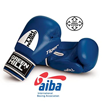072471782 Green Hill AMATEUR AIBA APPROVED BOXING GLOVES TIGER COMPETITION (Blue