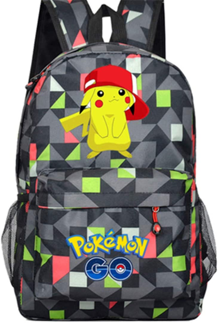 AUGYUESS Cartoon Anime School Bag Daypack Book Bag Laptop Bag Backpack for Children with USB Charging Port 2