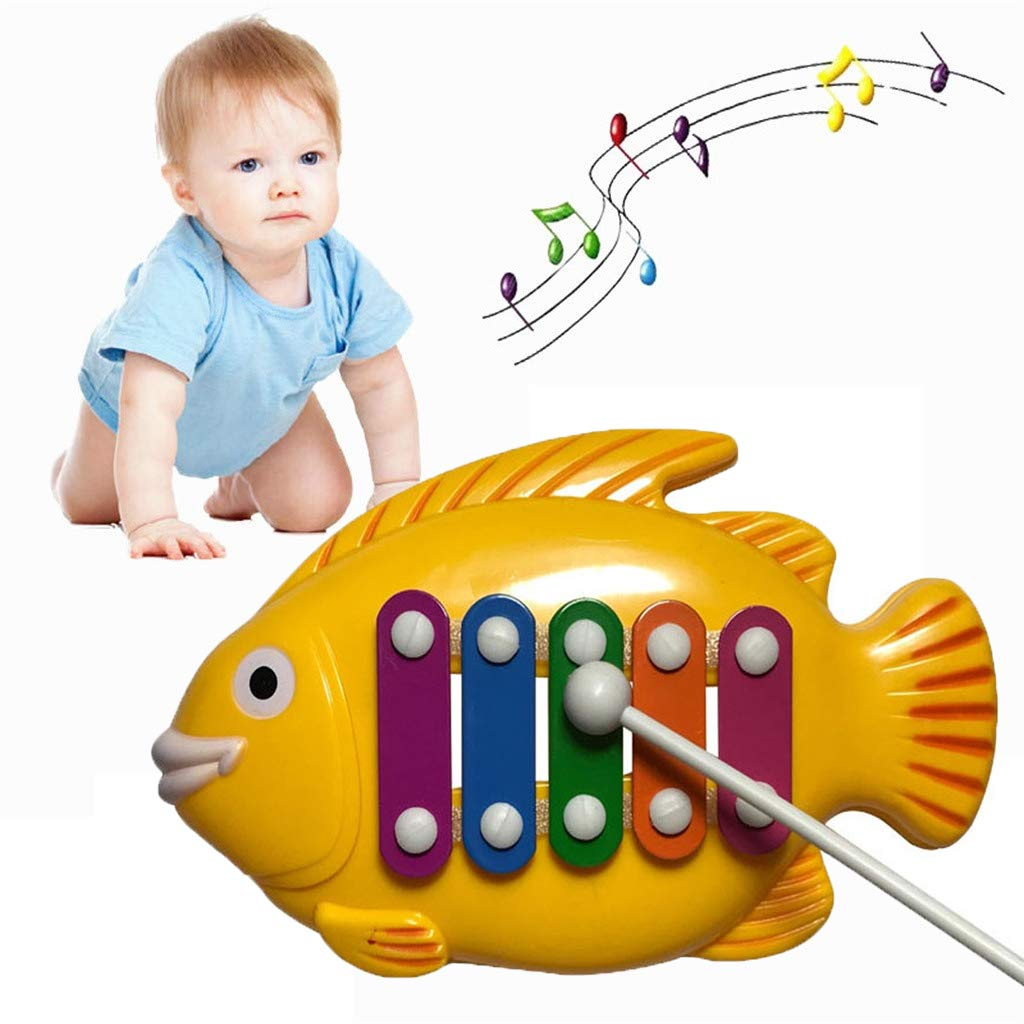 Xylophone Baby Toy, Alonea Musical Toy for Kids - 5 Notes Learning Music Toy Development Game Boy Toddler Girl Educational Kids Baby Play - Shape Color Recognition for Music-Making Fun (A❤️)