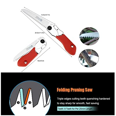Acogedor Pruning Saw,Foldable Portable Hand Saw,Manganese Steel Saw Blade,for Trimming Branches, Camping, Clearing Forest Trails.: Home Improvement