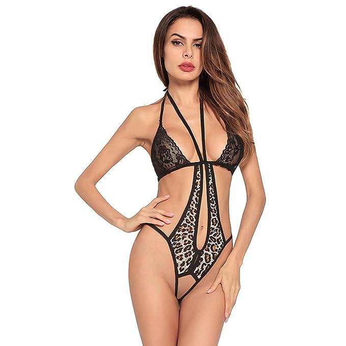 buy popular 4d6f9 82e0f Amorar Frauen Mädchen Dessous Halter Lace Bodysuit Spaß ...